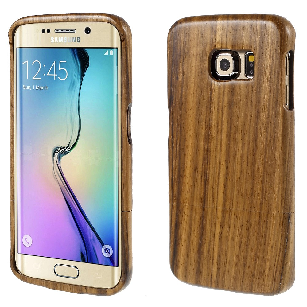 Image of Samsung Galaxy S6 Edge InCover Træ Cover - Mellem brun