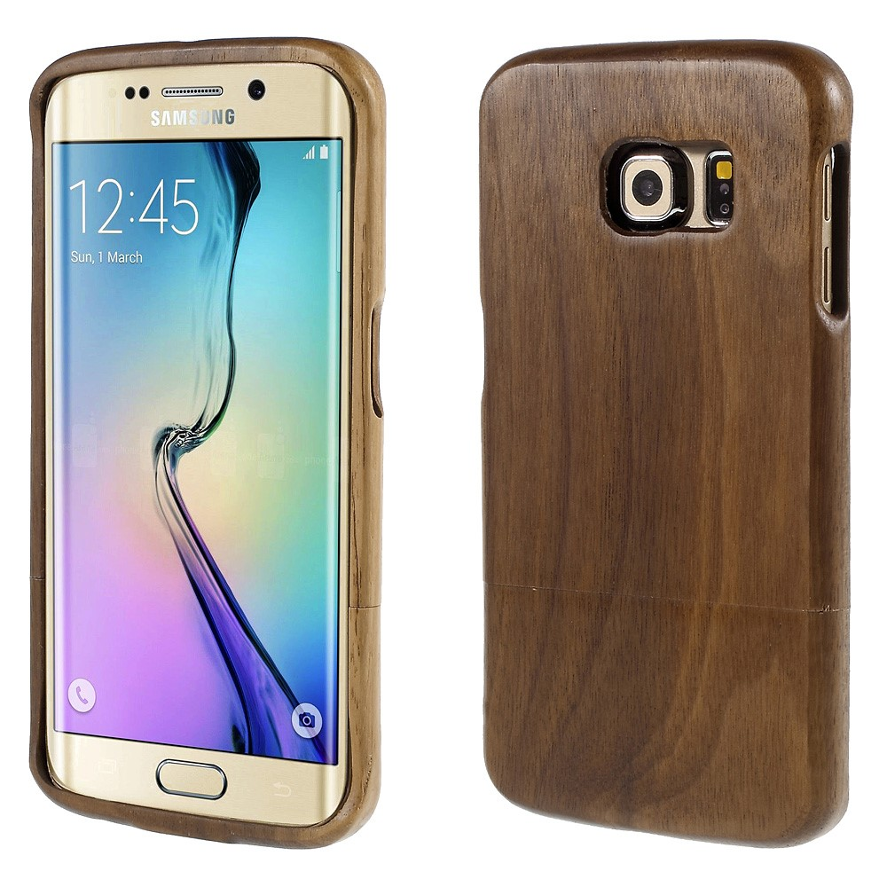 Image of Samsung Galaxy S6 Edge InCover Træ Cover - Mørk brun