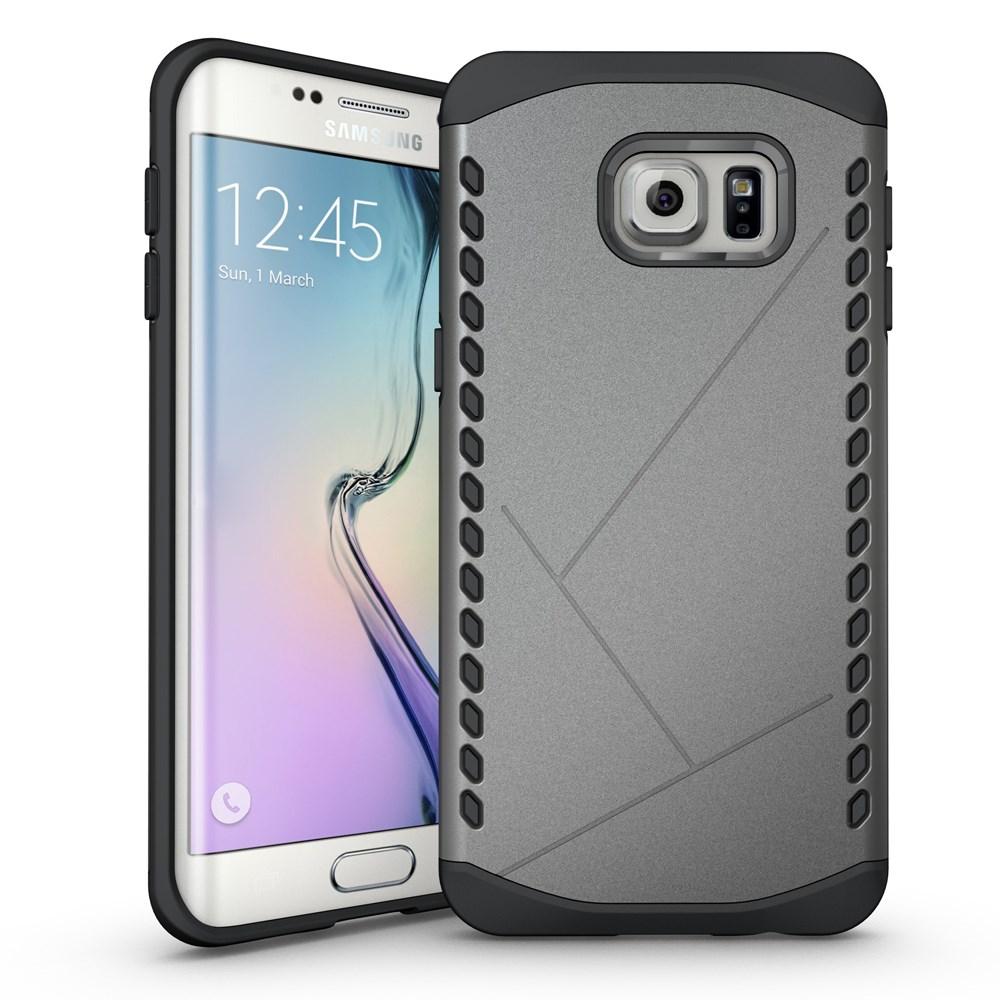 Billede af Samsung Galaxy S6 Edge Plus Hybrid TPU/Plastik Beskyttelses Cover - Grå
