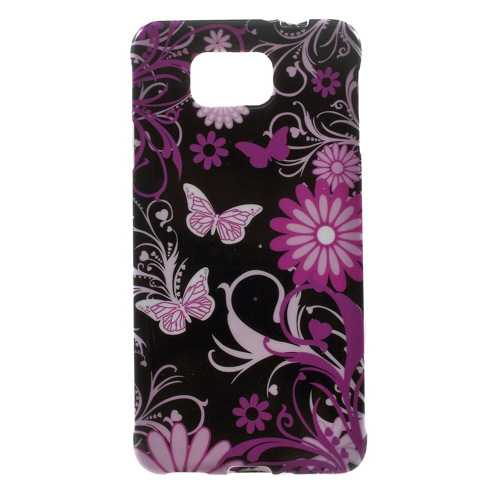 Billede af Samsung Galaxy Alpha TPU Design Cover - Butterfly Flowers
