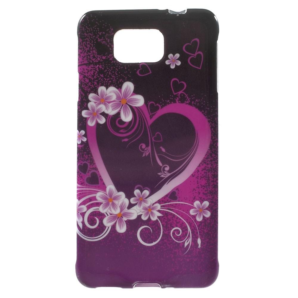 Billede af Samsung Galaxy Alpha TPU Design Cover - Heart Flowers
