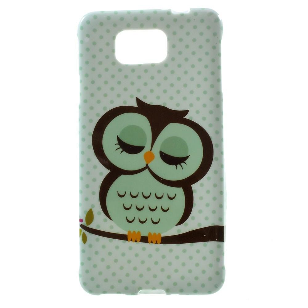 Billede af Samsung Galaxy Alpha TPU Design Cover - Sleeping Owl