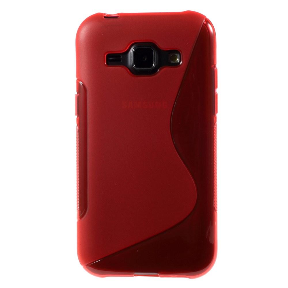 Billede af Samsung Galaxy J1 inCover TPU Cover S-Line - Rød