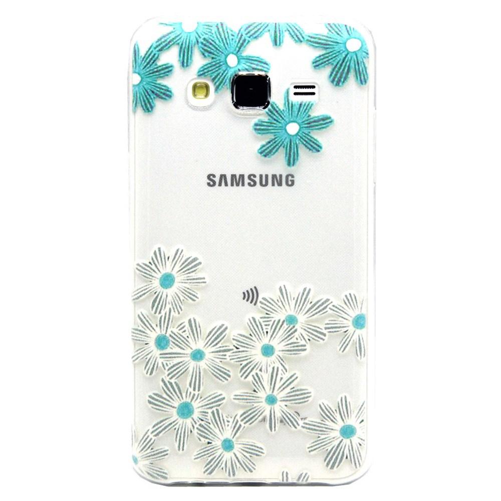 Billede af Samsung Galaxy J5 Design TPU Cover - Ice Flower