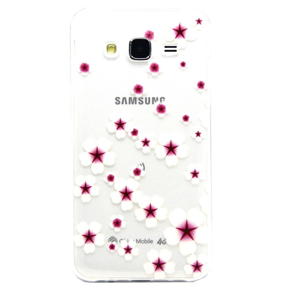 Billede af Samsung Galaxy J5 Design TPU Cover - Petal Flower