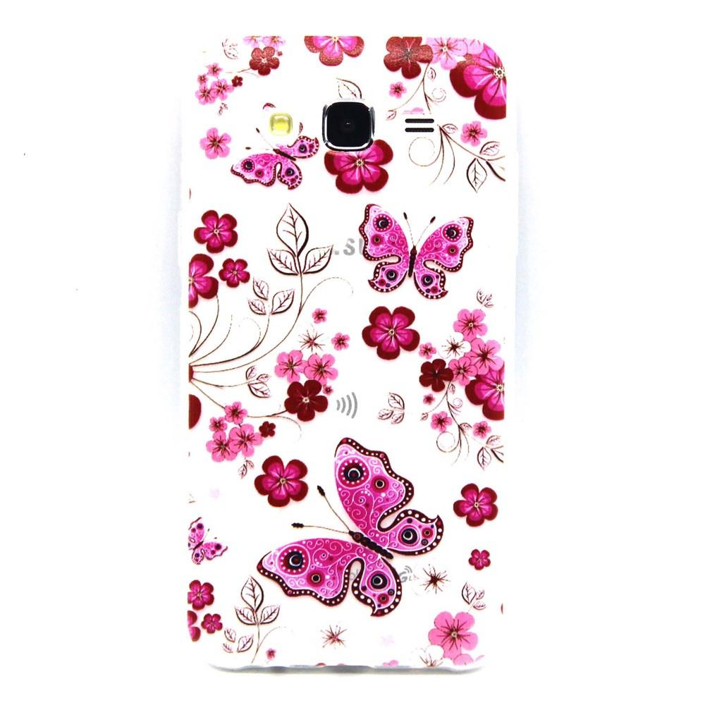 Billede af Samsung Galaxy J5 Design TPU Cover - Butterfly Flower