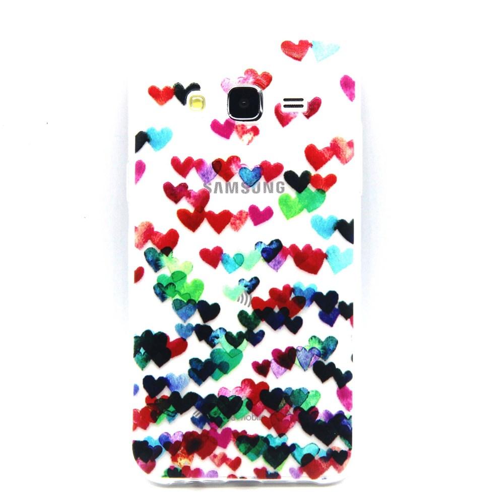 Billede af Samsung Galaxy J5 Design TPU Cover - Hearts