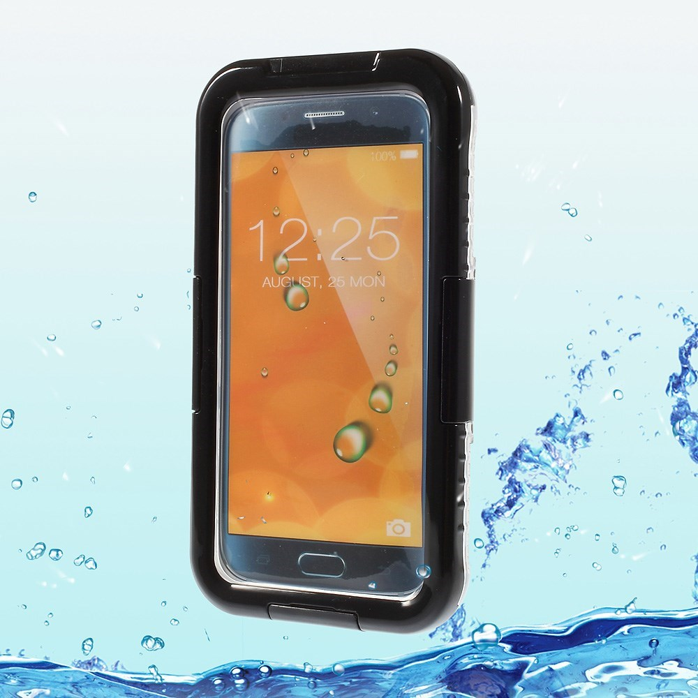 Image of   Samsung Galaxy S6 Edge Heavy Duty Støv & Vandtæt Cover - Sort