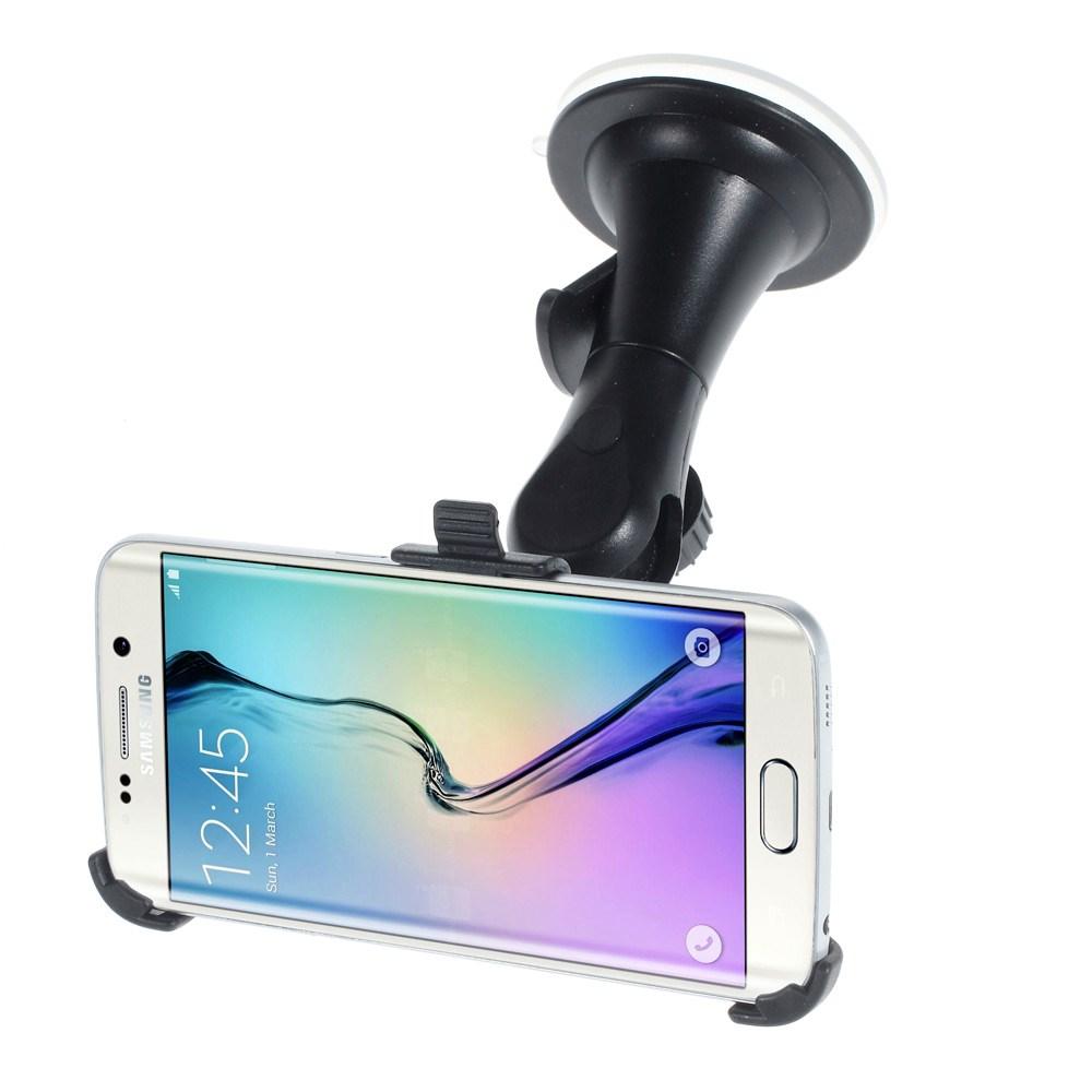 Image of   Samsung Galaxy S6 Edge 360 Graders Bilholder m. Sugekop