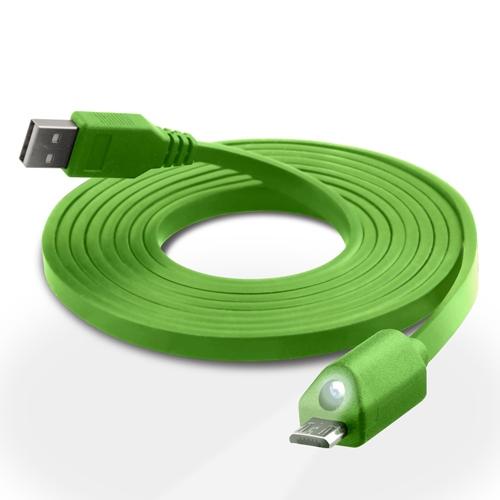 Billede af HPC, Naztech Micro-USB kabel med Lys - Grøn