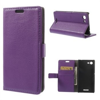 Image of   Sony Xperia E3 Deluxe Flip Cover Med Pung - Lilla