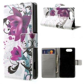 Billede af Sony Xperia Z3 Compact Design Flip Cover Med Pung - Lotus Flower