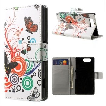 Billede af Sony Xperia Z3 Compact Design Flip Cover Med Pung - Vivid Butterfly