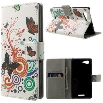 Billede af Sony Xperia E3 Design Flip Cover Med Pung - Vivid Butterfly