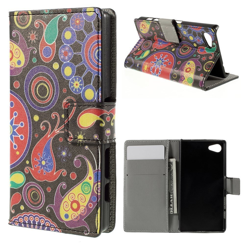 Billede af Sony Xperia Z5 Compact Design Flip Cover m. Pung - Paisley Pattern