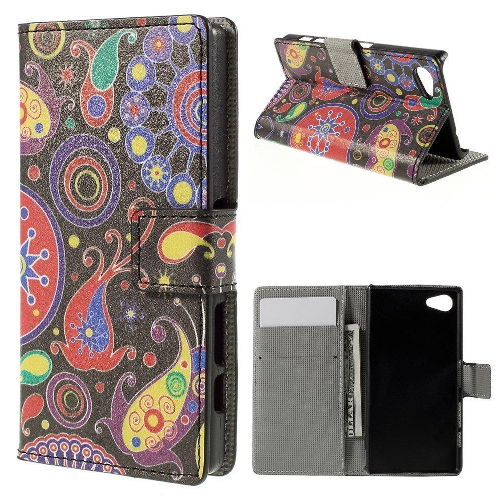 Billede af Sony Xperia Z5 Compact Design Flip Cover m. Pung - Paisley Pattern