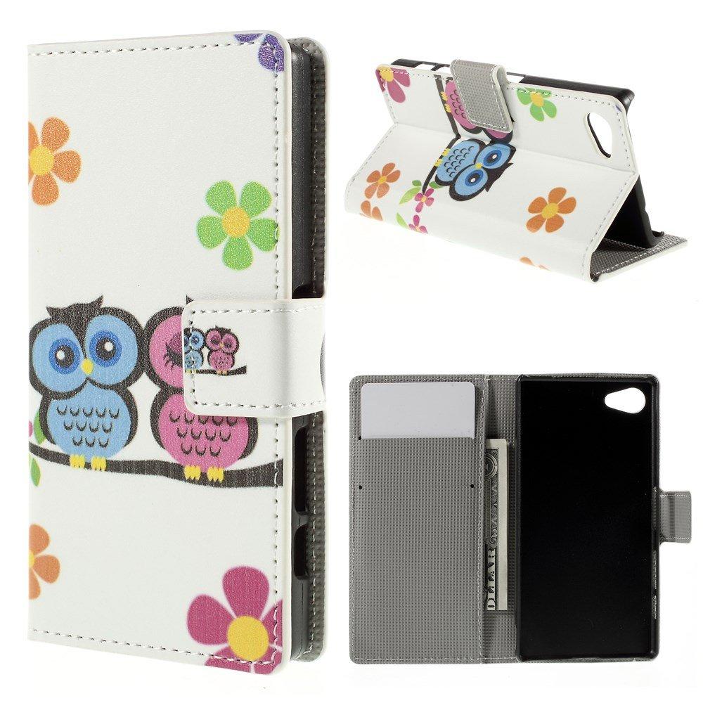 Billede af Sony Xperia Z5 Compact Design Flip Cover m. Pung - Owl Couple