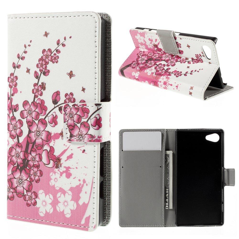 Billede af Sony Xperia Z5 Compact Design Flip Cover m. Pung - Plum Blossom