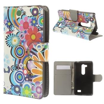 LG L Fino FlipStand Taske/Etui - Rainbow & Flower