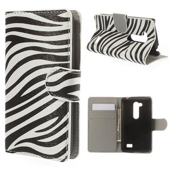 LG L Fino FlipStand Taske/Etui - Zebra