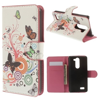 Image of LG L Bello FlipStand Taske/Etui - Butterfly & Circle