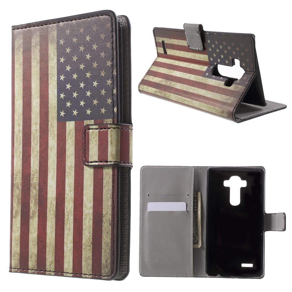 Image of   LG G4 Smart Flip Cover m. Pung & Stand - Stars & Strips