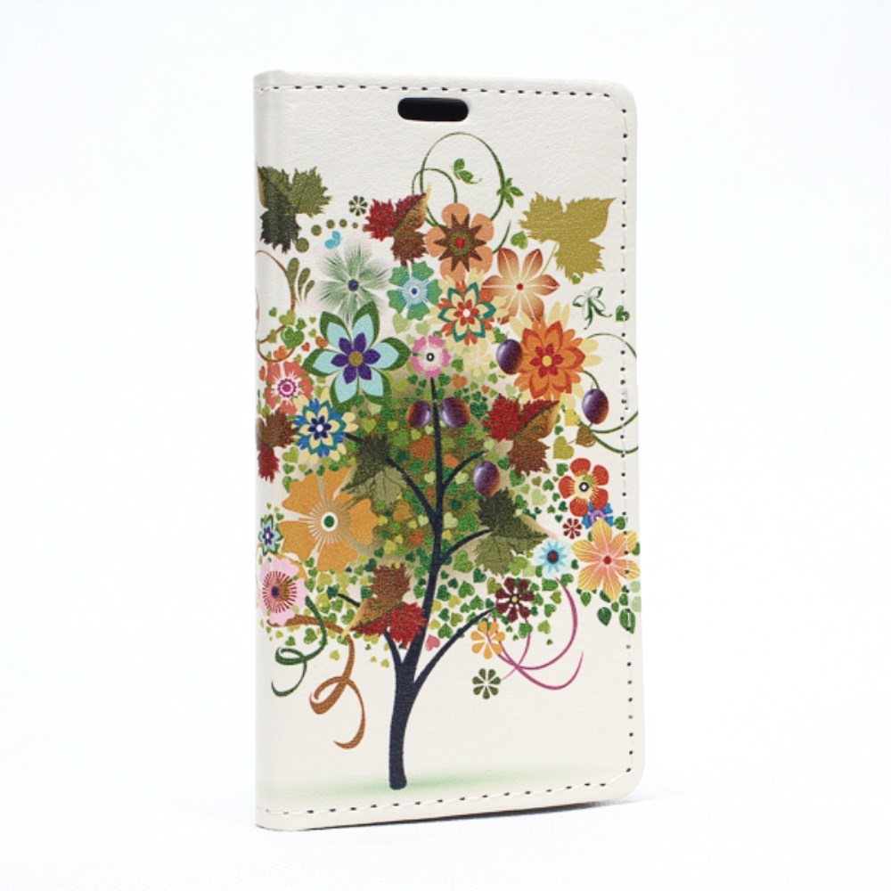 Image of LG Spirit Design Flip Cover m. Stand - Colorful Tree