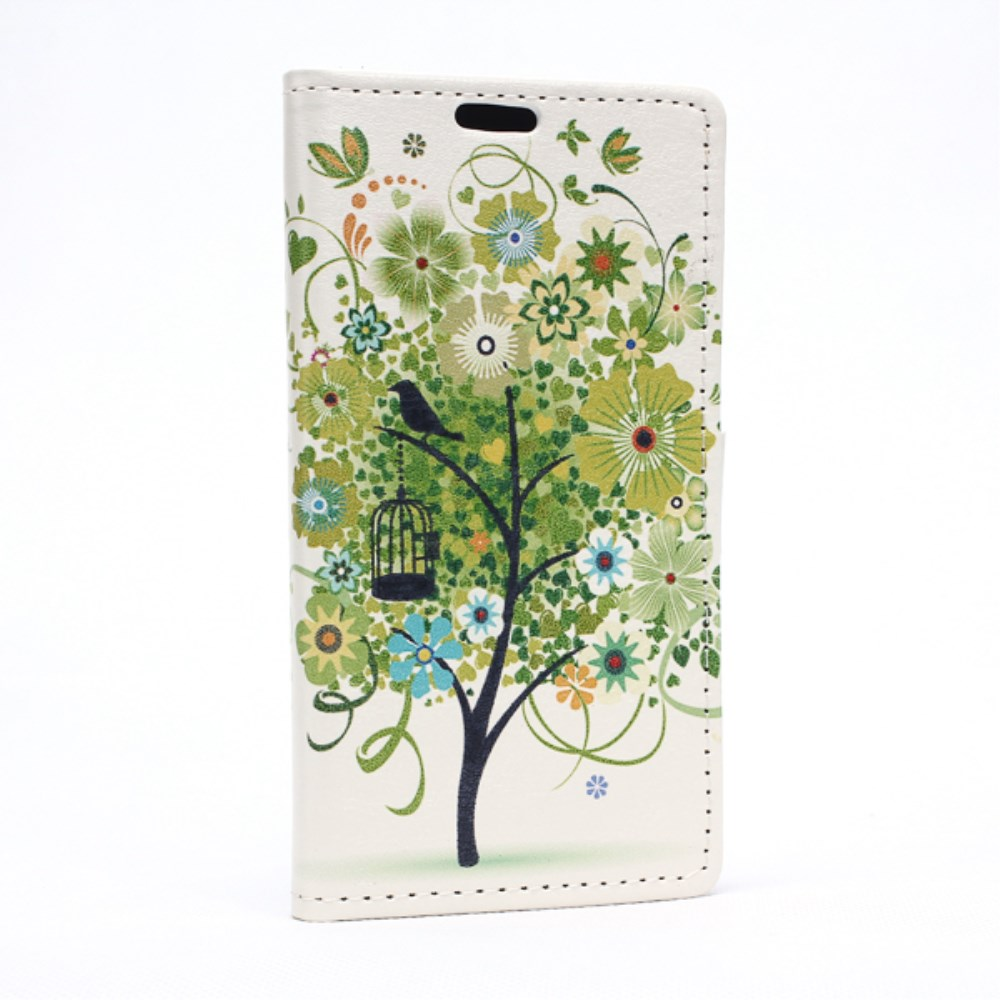 Image of LG Spirit Design Flip Cover m. Stand - Green Tree