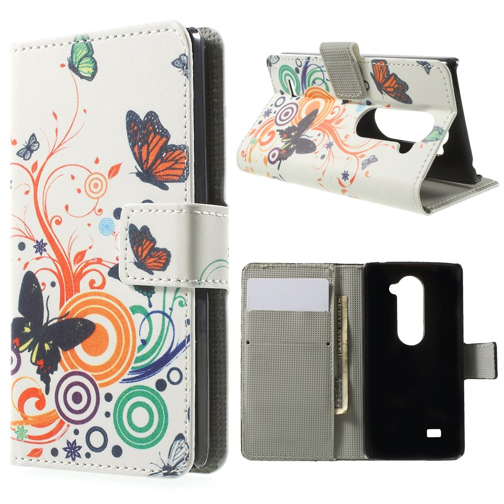 Image of LG Leon Design Flip Cover - Butterfly Circles
