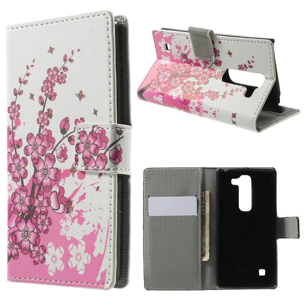 Image of LG Spirit Design Flip Cover m. Stand & Pung - Plum Blossom