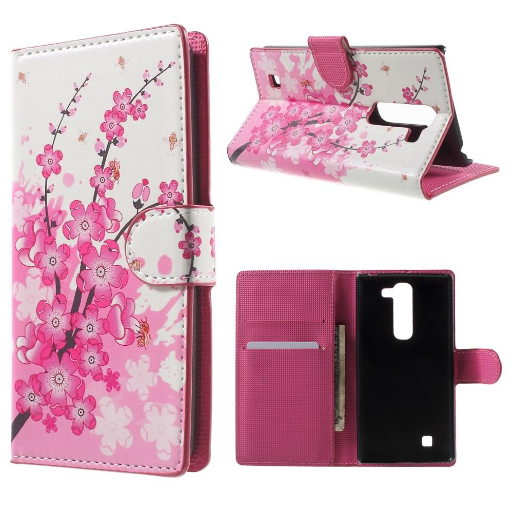 Image of LG G4c Design Flip Cover m. Stand - Plum Blossom