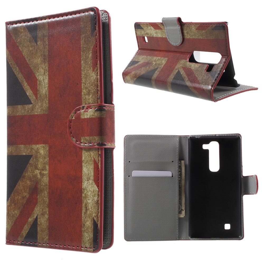 Image of LG G4c Design Flip Cover m. Stand - Union Jack