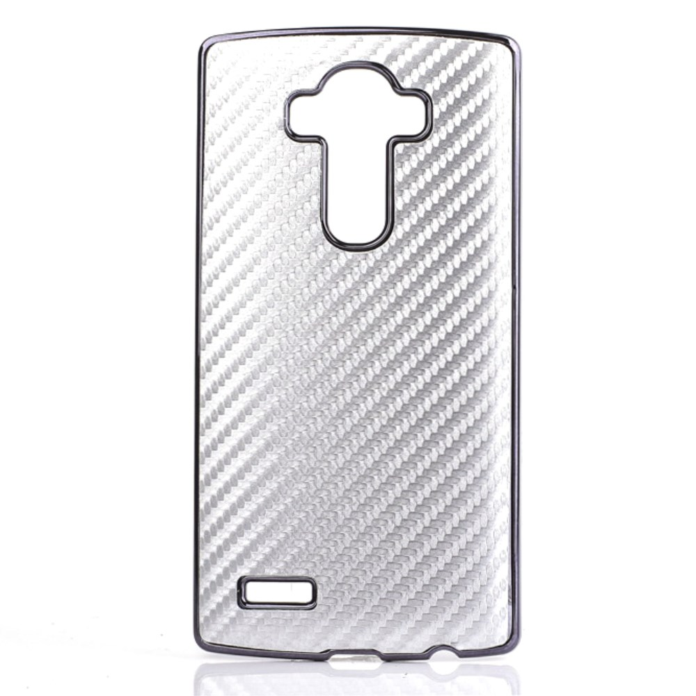 Image of   LG G4 inCover Carbon Look Cover - Sølv