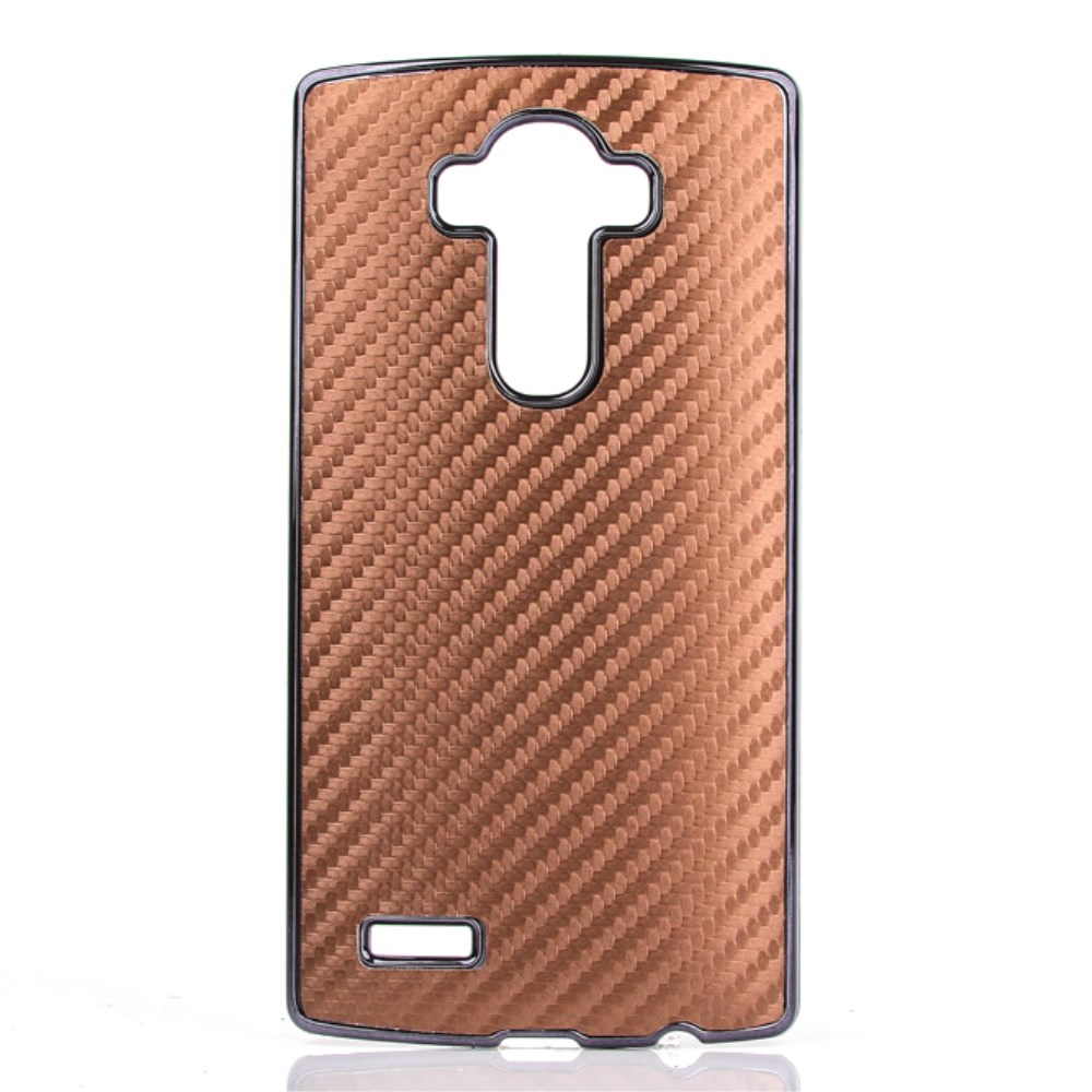 Image of   LG G4 inCover Carbon Look Cover - Brun