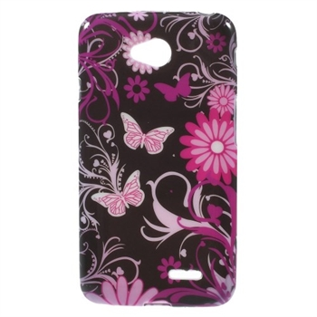 Image of LG L65 inCover Design TPU Cover - Black Butterfly