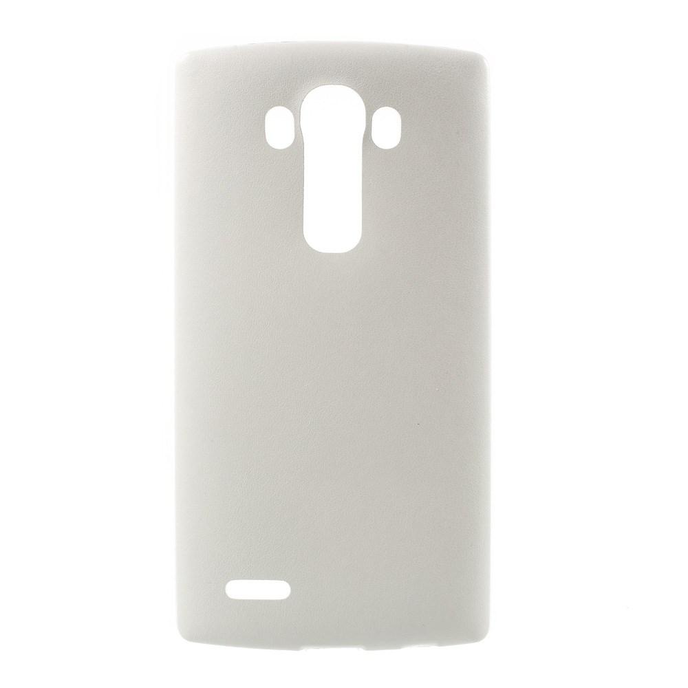 Image of   LG G4 Læderbeklædt TPU Cover - Hvid