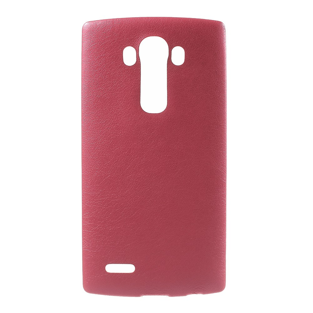 Image of   LG G4 Læderbeklædt TPU Cover - Rød