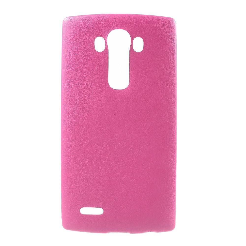 Image of   LG G4 Læderbeklædt TPU Cover - Pink