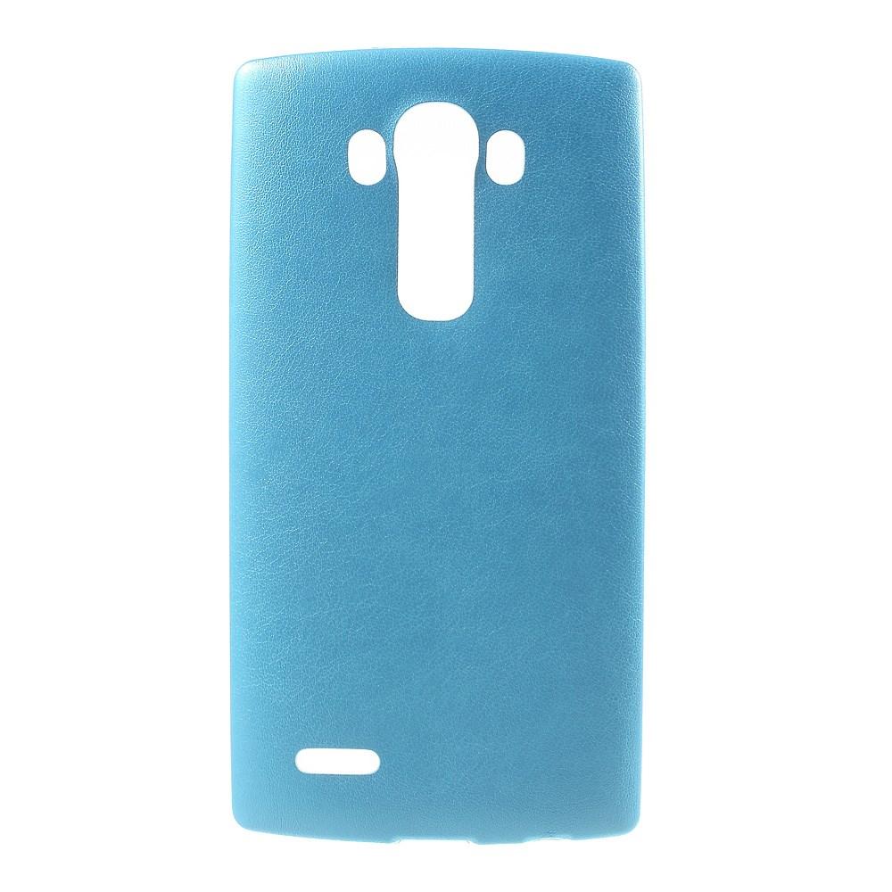 Image of   LG G4 Læderbeklædt TPU Cover - Blå