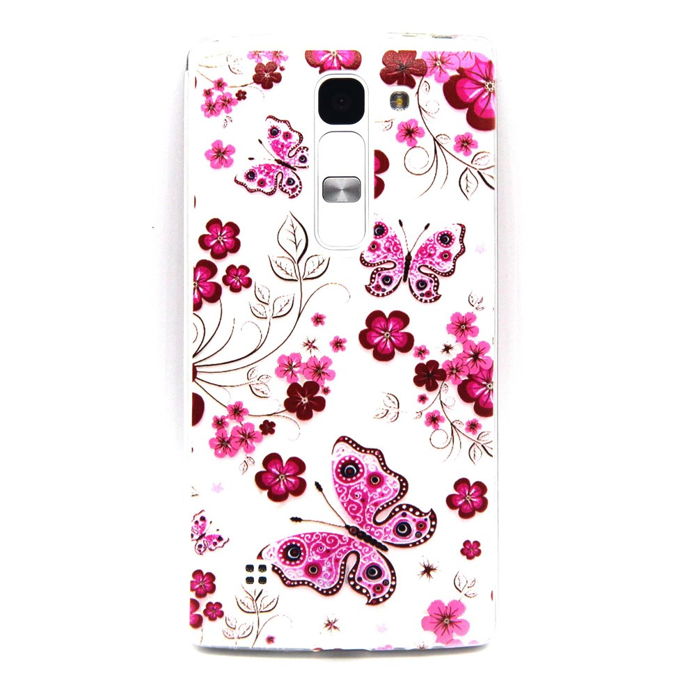 Billede af LG G4c inCover TPU Cover - Butterfly Flowers