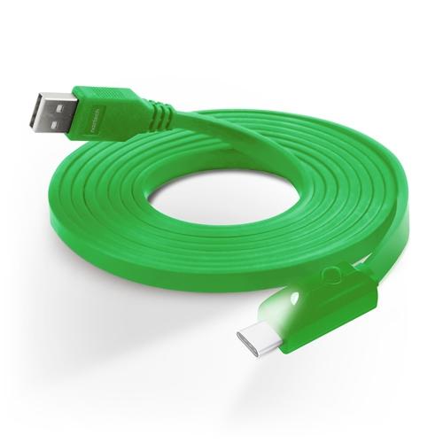 Image of Naztech USB-C Kabel med Lys - Grøn