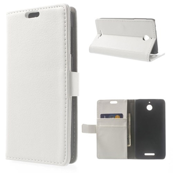 Image of HTC Desire 510 Deluxe FlipCover Med Pung - Hvid