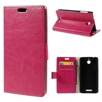 HTC Desire 510 FlipCover Med Pung - Rosa