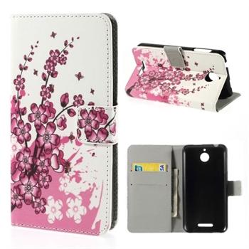 Image of HTC Desire 510 Design FlipCover Med Pung - Plum Blossom