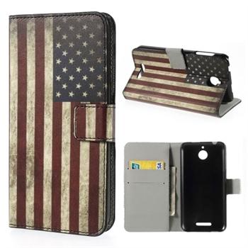 Image of HTC Desire 510 Design FlipCover Med Pung - Stars & Stripes