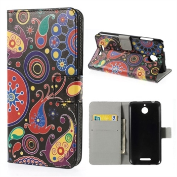 Image of HTC Desire 510 Design FlipCover Med Pung - Paisley