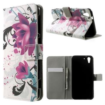 Billede af HTC Desire Eye Design Flip Cover Med Pung - Lotus Flower