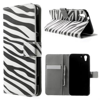 Image of HTC Desire Eye Design Flip Cover Med Pung - Zebra