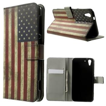 Image of HTC Desire Eye Design Flip Cover Med Pung - Stars & Stripes