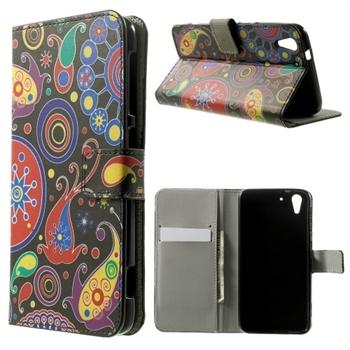 Image of HTC Desire Eye Design Flip Cover Med Pung - Psychedelic